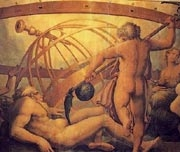 The Mutiliation of Uranus by Saturn (Cronus) - Giorgio Vasari and Gherardi Christofano, 16th