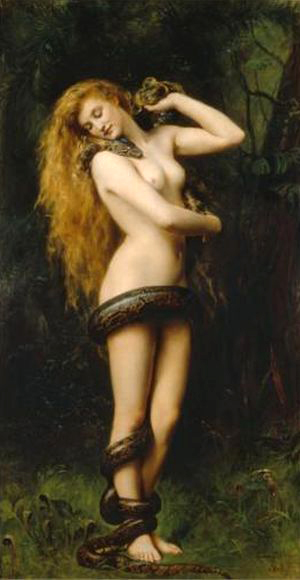 """Lilith cu un sarpe"", John Collier"