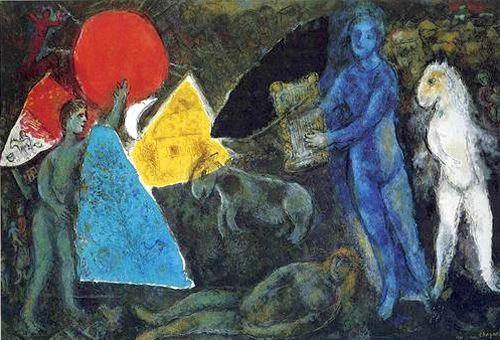 Mitul lui Orfeu, Marc Chagall (1977)