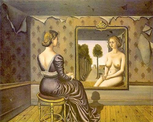"""Mirror"" (1939), Paul Delvaux"