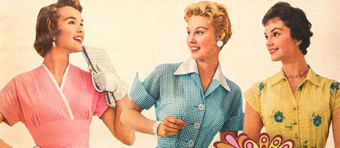 Evoluția modei feminine în anii '50