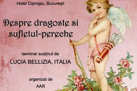 Crăciunul e despre dragoste! Te așteptăm sâmbătă la seminarul susținut de Lucia Bellizia!