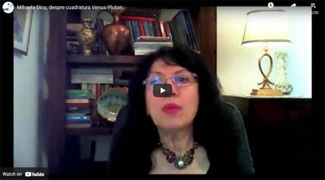 Mihaela Dicu, despre cuadratura Venus-Pluton