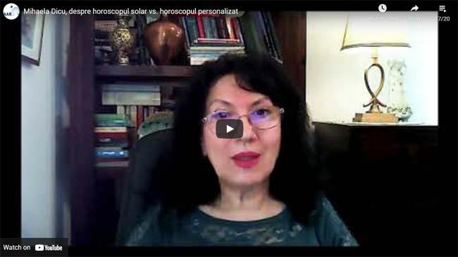 Mihaela Dicu, despre horoscopul solar vs. horoscopul personalizat
