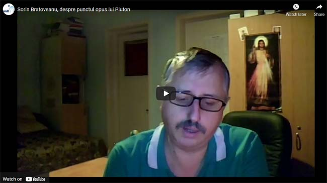 Sorin Bratoveanu, despre punctul opus lui Pluton