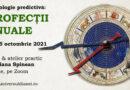 2 și 5 octombrie 2021: Profecții anuale, curs cu Diana Spinean